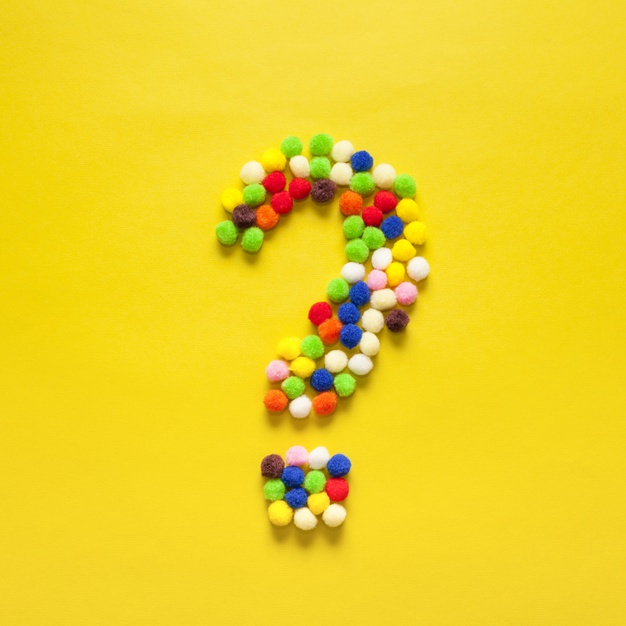colourful-question-mark-from-cotton-balls
